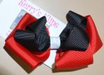 Black & Red Bow image